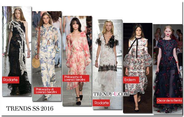 Модные летние платья весна-лето 2016 из кружева, шифона и шелка
