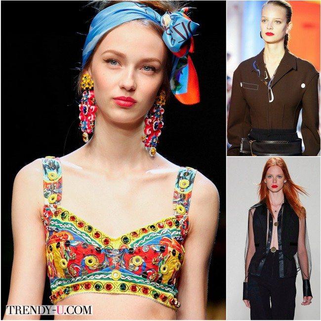 Красная помада весна-лето 2016 от известных брендов Dolce&Gabbana, Celine и Jenny Packham