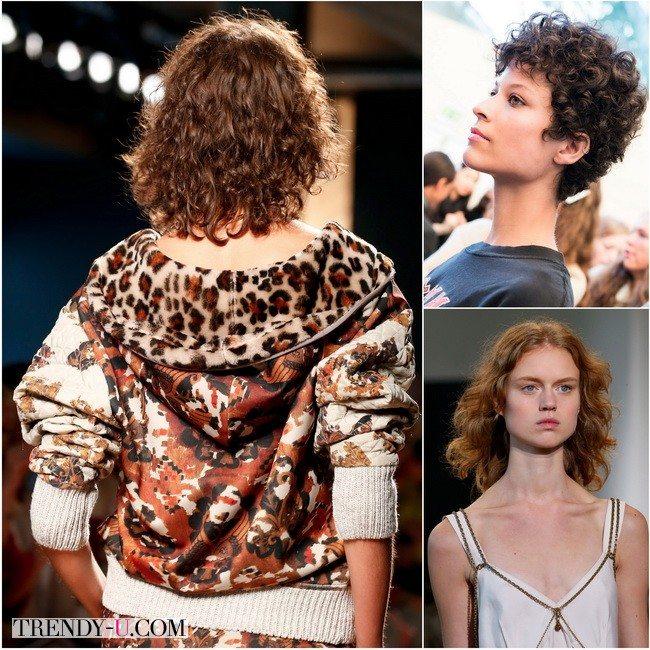 Модели на показах весна-лето 2016 Bottega Veneta, Chloe и Calvin Klein Collection со стрижками для волнистых волос средней длины