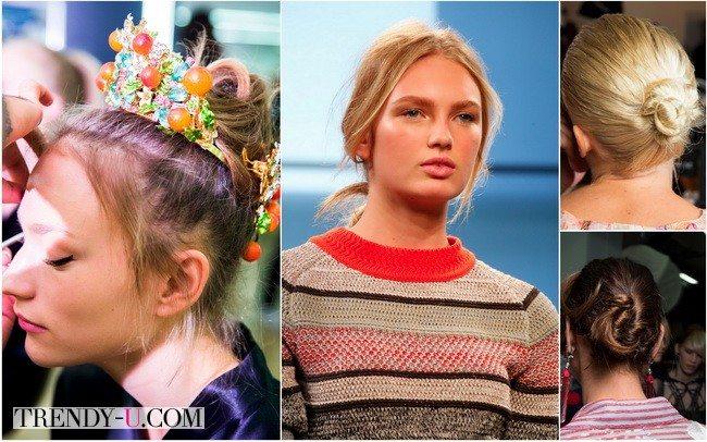 Пучок - модная прическа от Dolce&Gabbana, Jason Wu, Giorgio Armani, Bottega Veneta в коллекциях весна-лето 2016