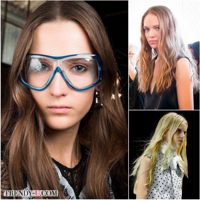 Небрежные локоны - женственный тренд от Calvin Klein, Emilio Pucci, Giambattista Valli в сезоне весна-лето 2016