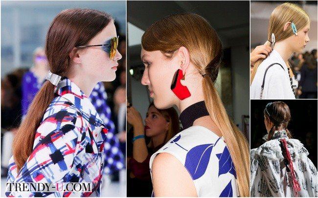 Низкий конский хвост весной-летом 2016 нам советуют носить Miu Miu, Christian Dior, Marni, Chanel