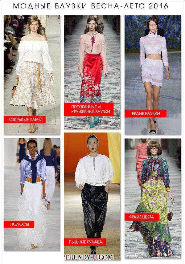 Модные блузки весна-лето 2016