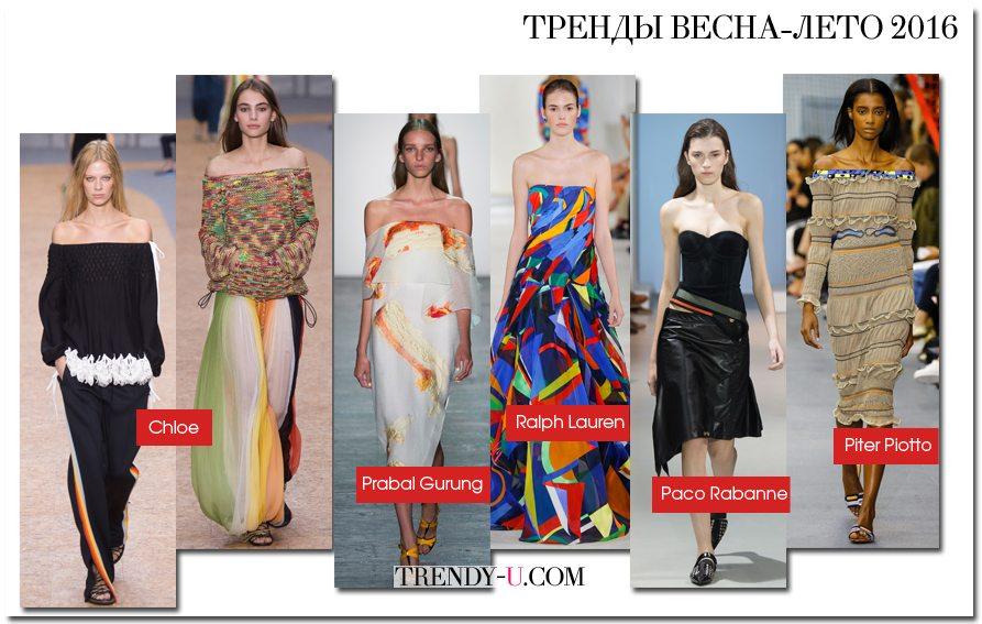 Свитеры, блузки, платья и сарафаны с открытыми плечами для весны и лета 2016