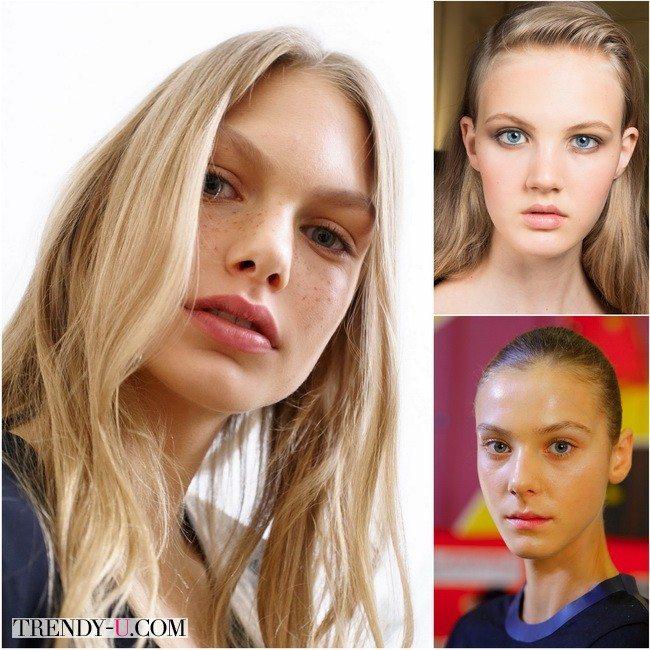 Натуральный макияж от Emanuel Ungaro, Roberto Cavalli и J.W.Anderson