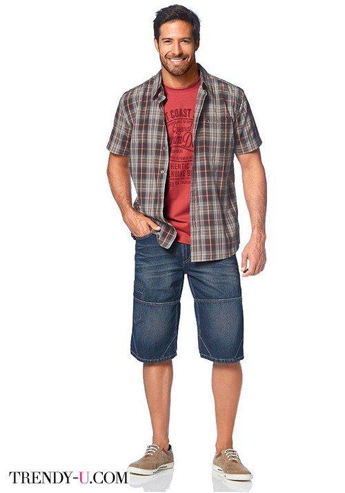 Мужские джинсовые шорты-бермуды