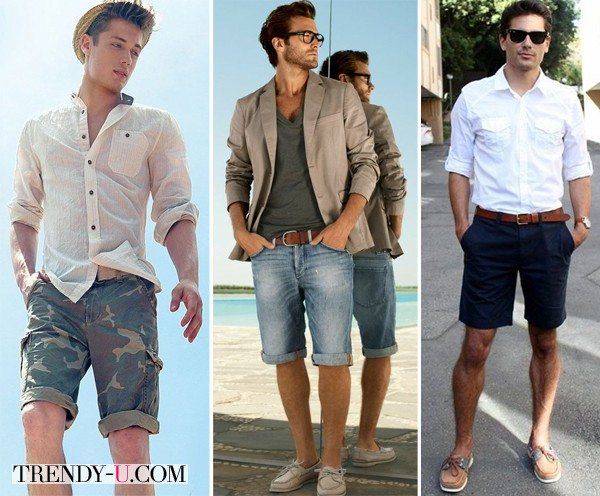 Носите мужские шорты вот так!