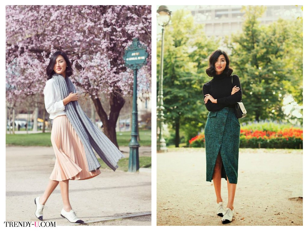 Стильные юбки с не менее стильными оксфордами