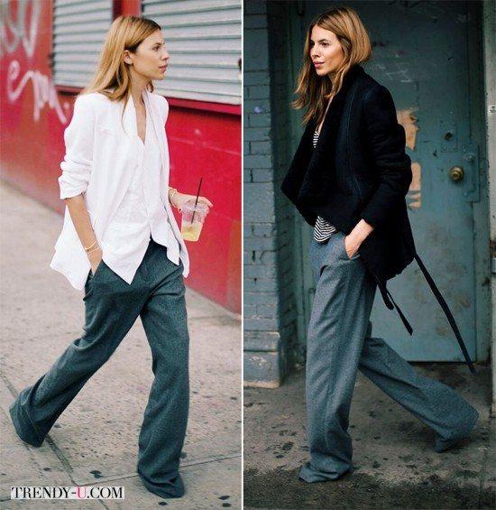 Мужские брюки оверсайз смотрятся женственно. Если, конечно, вы женщина