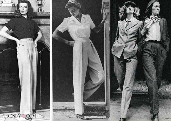 Широкие брюки - это стиль ретро