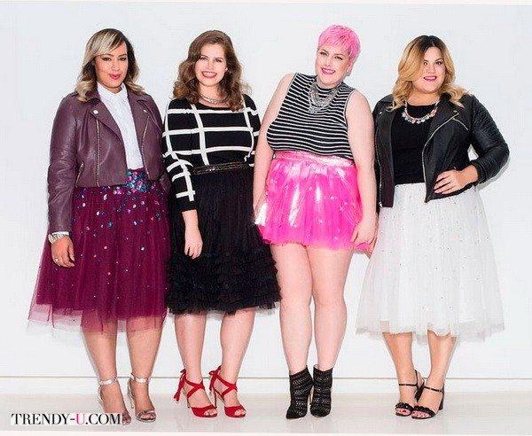 Блогерши размера плюс-сайз не боятся пышных юбок