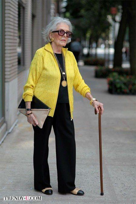 Пожилая модница