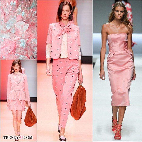 Костюмы и платья самого модного в 2016 года цвета - Розовый кварц