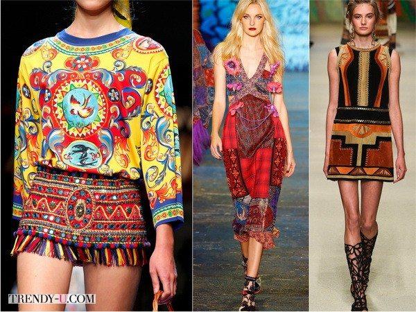 Яркую этнику весной-летом 2016 предлагают Dolce&Gabbana, Anna Sui и Alberta Ferretti