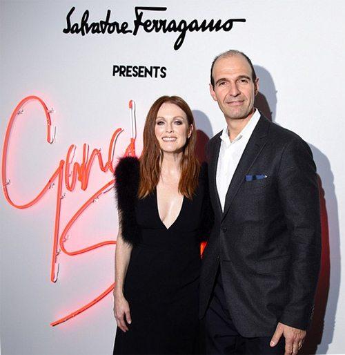 Джулианна Мур и Fashion President бренда Vincent Ottomanelli