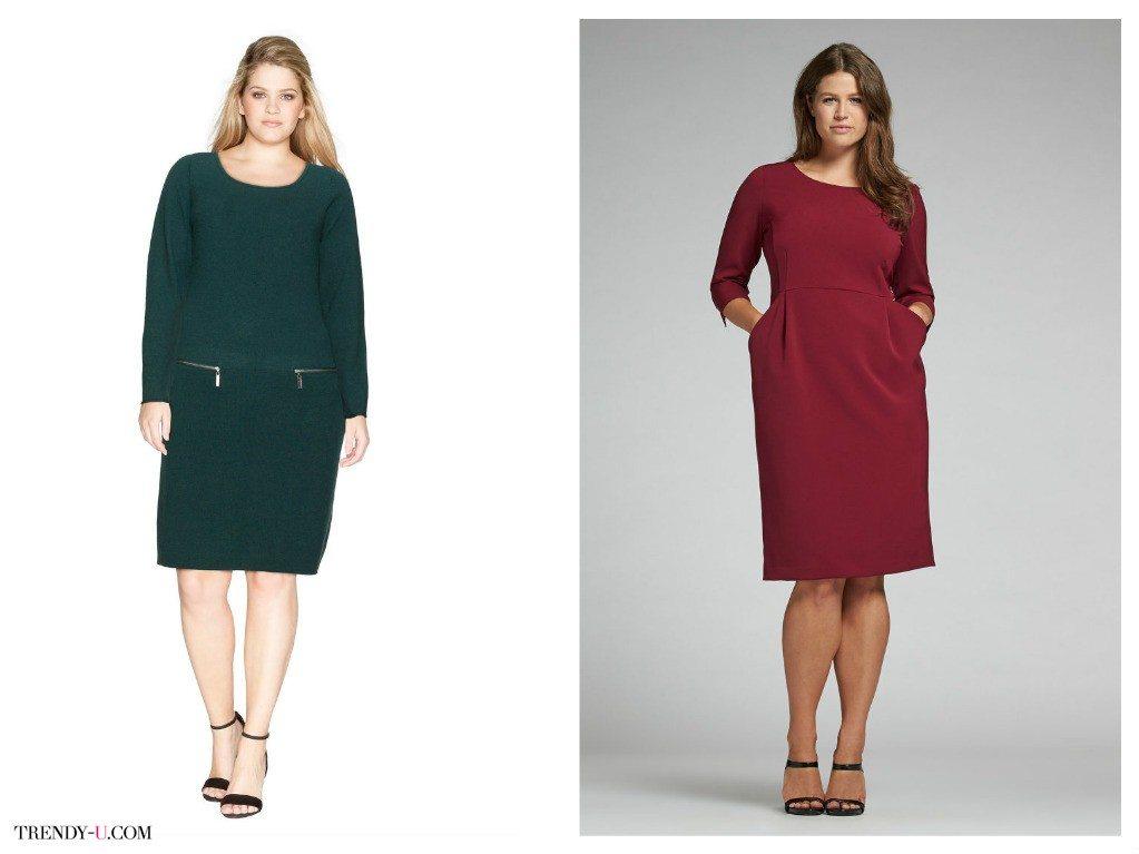 Модные платья на каждый день для полных женщин