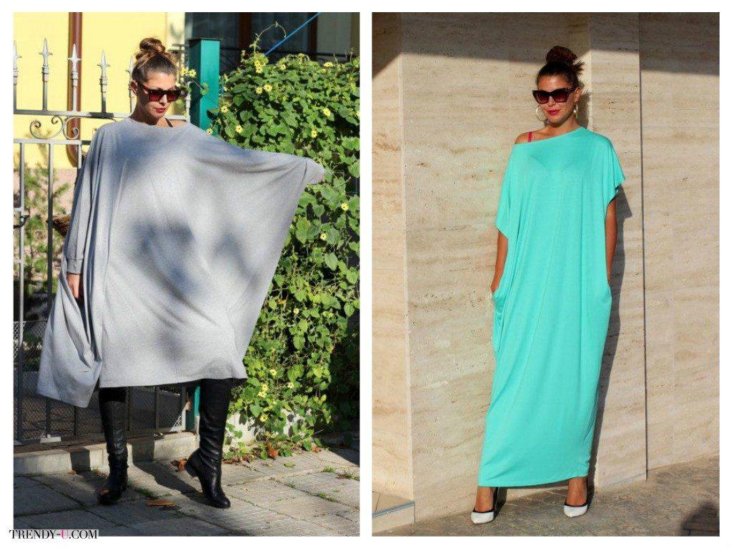 Модное платье оверсайз для полных женщин