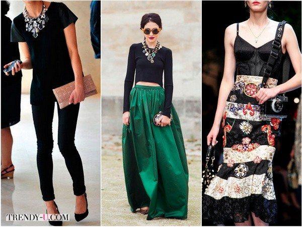 Случай, когда украшение играет сольную роль (фото 1, 2) и наоборот - у Dolce&Gabbana