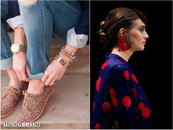 Можно подобрать украшение со схожим принтом (фото 1) или формой, как у Giorgio-Armani (фото 2)