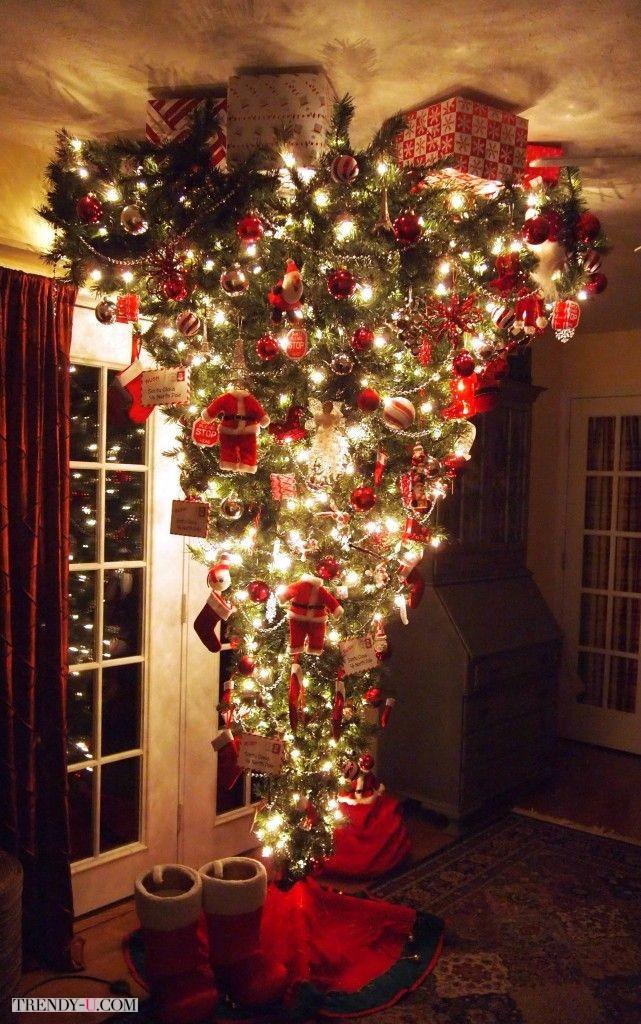 Креативная елка вверх тормашками