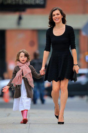 Милла Йовович с дочкой Эвой