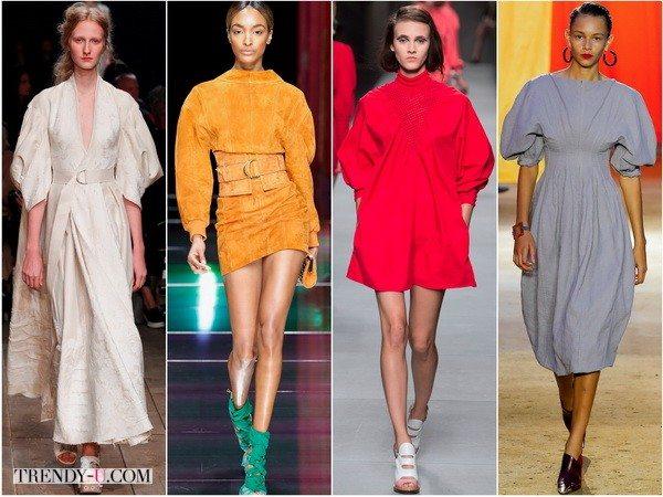 Пышные рукава в платьях весна-лето 2016 от Alexander-McQueen, Balmain, Fendi, Celine