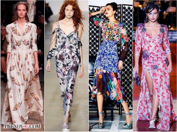 Цветочный принт весна-лето 2016: Alexander-McQueen, Calvin-Klein, Duro-Olowu, Marc-Jacobs