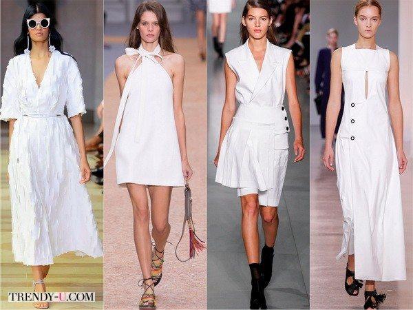 Белые платья весна-лето 2016 в коллекциях Carolina-Herrera, Chloe, DKNY, Edun