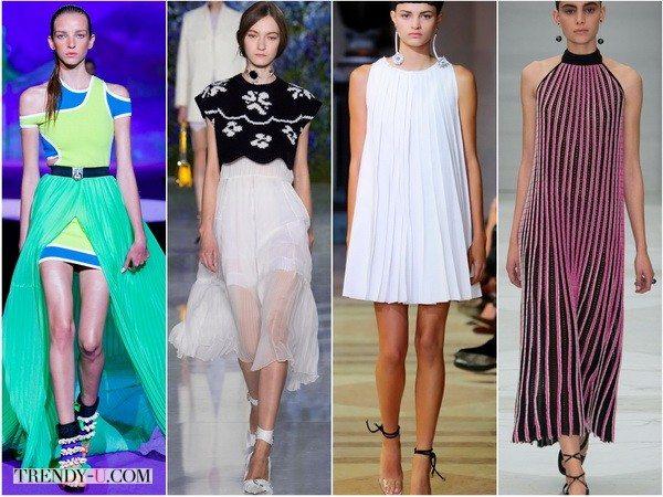 Нежное плиссе в платьях от Dsquared2, Christian-Dior, Carolina-Herrera, Salvatore-Ferragamo весной-летом 2016