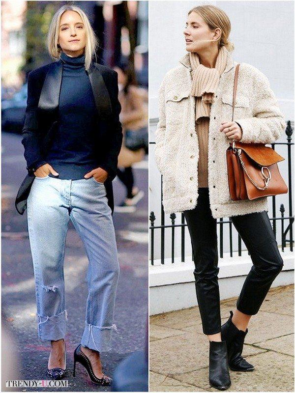 Комфорт в жакете с джинсами или в «плюшевой» куртке с узкими брюками