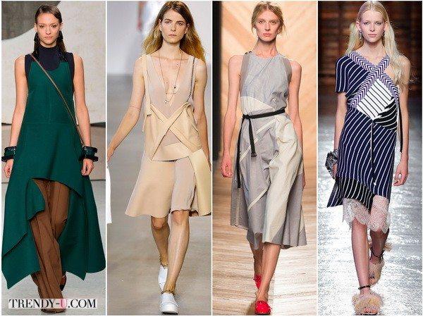 Асимметричные платья в весенне-летних коллекциях Marni, Calvin-Klein, Bottega-Veneta, Emilio-Pucci