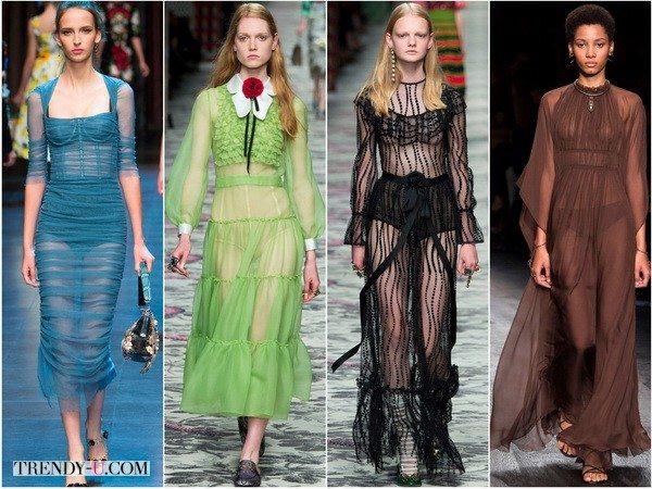 Вечерний бельевой стиль весна-лето 2016 от Dolce&Gabbana, Gucci, Gucci, Valentino