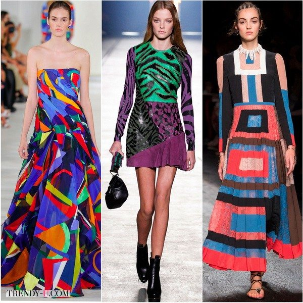 Колорблокинг в коллекциях Ralph-Lauren, Versace, Valentino сезона весна-лето 2016