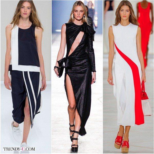 Асимметрия от Hermes, Versace, Ralph-Lauren весной-летом 2016