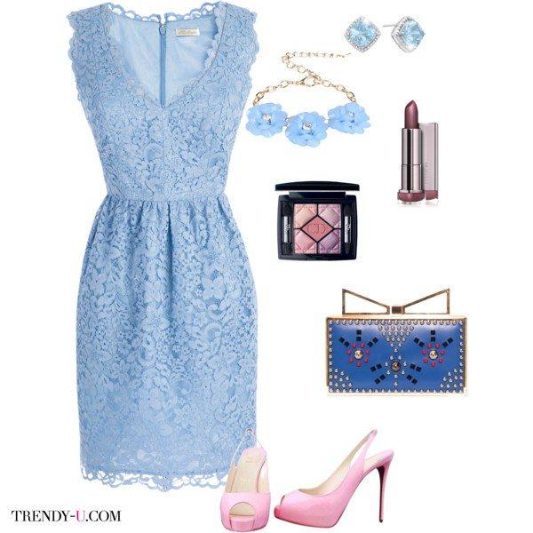 Платье цвета серенити - актуальный тренд 2016 года