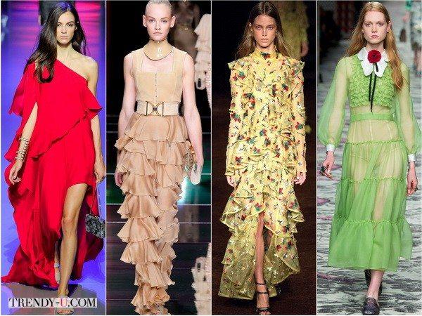Романтичный стиль от Elie-Saab, Balmain, Erdem, Gucci на показах сезона весна-лето 2016