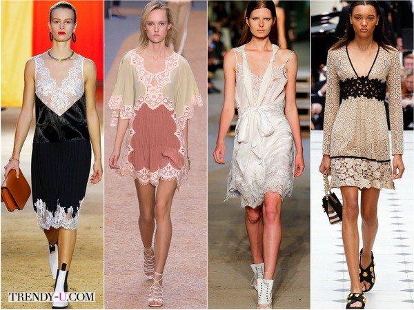 Соблазнительный бельевой стиль в коллекциях Celine, Chloe, Givenchy, Burberry весна-лето 2016