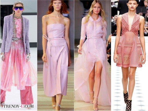 Chanel, Carolina-Herrera, Carolina-Herrera, Burberry предпочитают розовый. Показы весна-лето 2016
