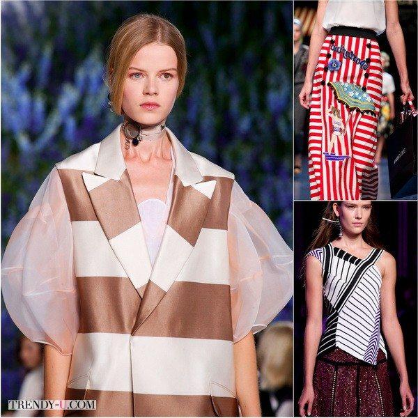 Полоска от Christian Dior, Dolce&Gabbana, Emilio Pucci в коллекциях весна-лето 2016