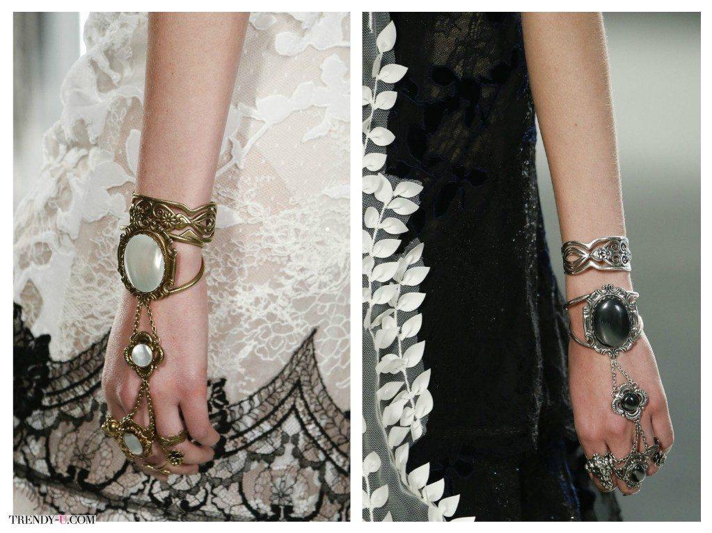 Модные браслеты и кольца для весны и лета 2016 от Rodarte