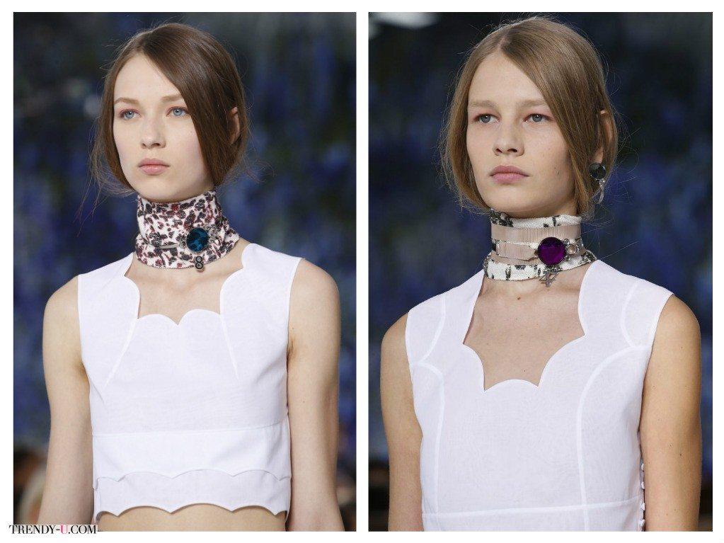 Стильные шейные украшения для весны и лета 2016 by Christian Dior