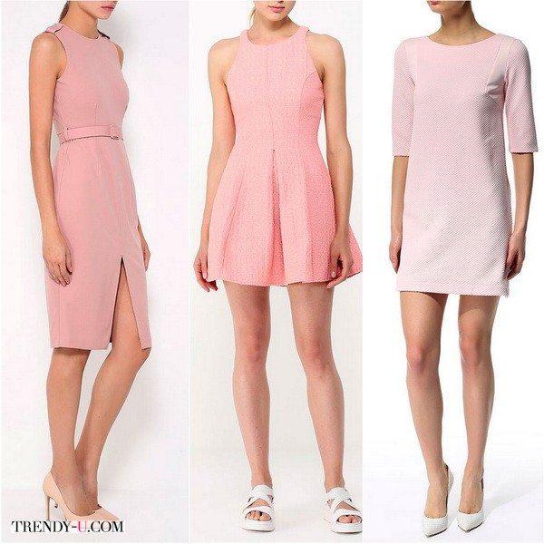 Платье цвета Розовый кварц - можно купить сейчас то, что будет самым модным весной-летом 2016