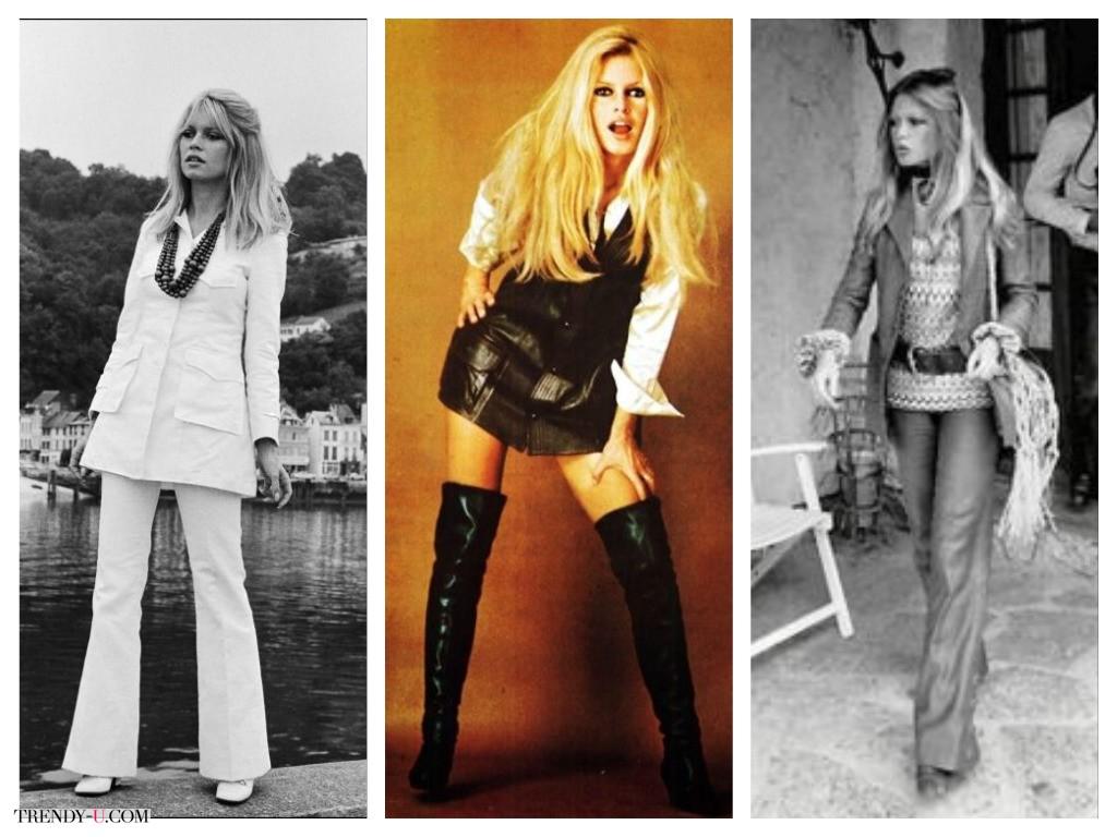 Модные образы 70-х на Брижит Бардо