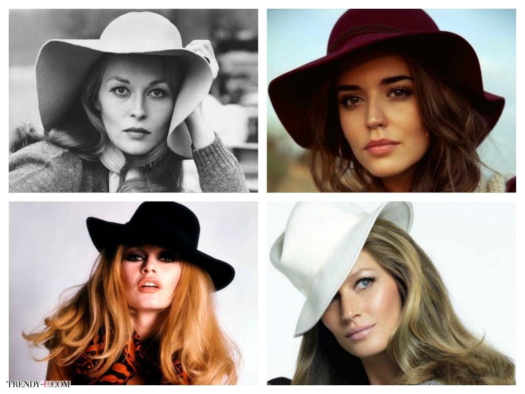 Красивые шляпы на красивых женщинах - это всегда прекрасно, в 70-е и сегодня