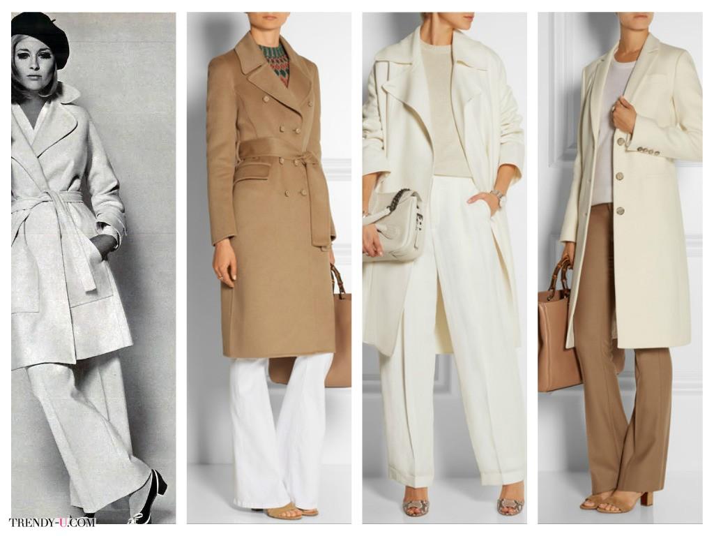 Модные расклешенные брюки и пальто - в 70-х и сегодня