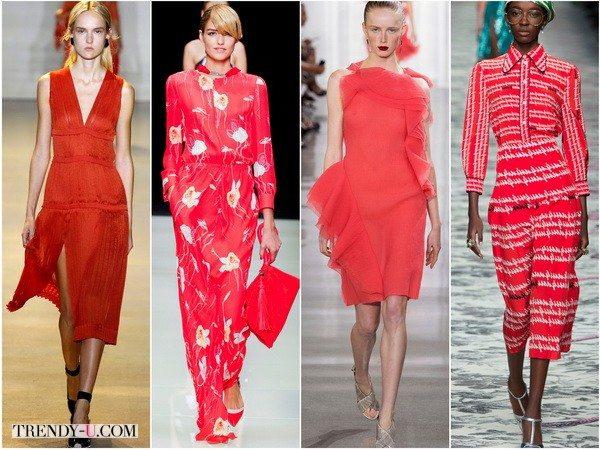 Модные платья красного цвета весна-лето 2016