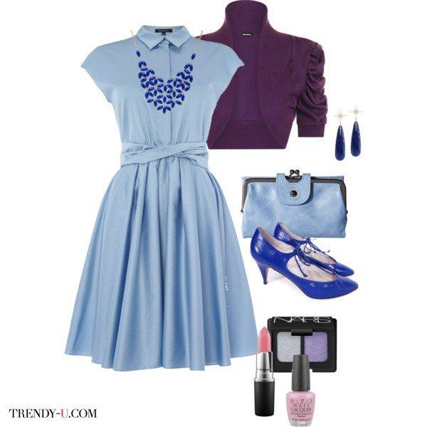 Модный цвет 2016 года серенити - прекрасный цвет для нежного платья