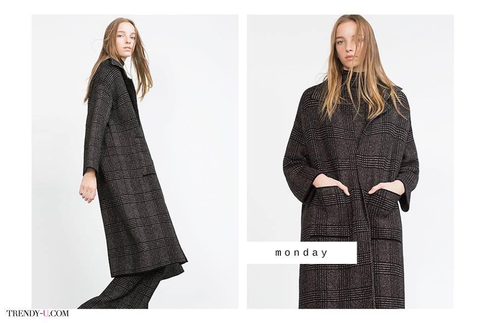 Твидовое пальто в клетку и широкие брюки. Модные хиты сезона!