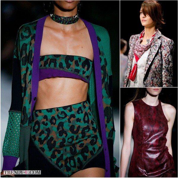 Змеиный и леопардовый принт от Versace и Giorgio Armani весной-летом 2016