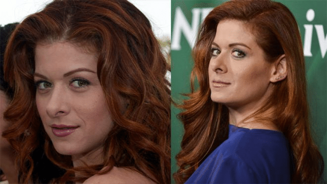 Звезда сериала «Уилл и Грейс» Дебра Мессинг в 33 года (слева) и в 45 лет